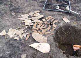 Клад железных инструментов наиденный SSP3000