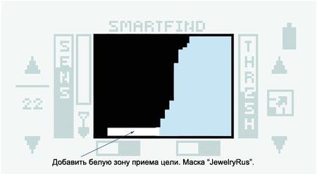 Маска дискриминации «Jewelry Rus» металлоискателя Explorer SE Minelab для обнаружения небольших золотых украшений.