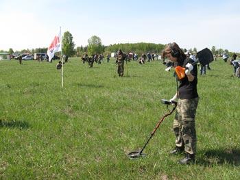 Слет кладоискателей в Ниженем новгороде. Металлодетектор X-Terra T34.